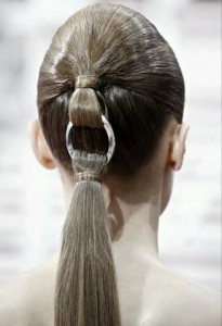 ponytail with silver accessory