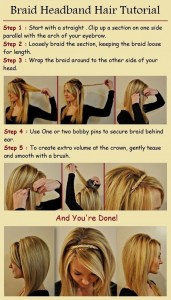 Braid Headband Hair Tutorial