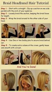Braid Headband Hair Tutorial
