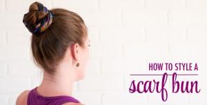 How to Style a Scarf Hair Bun