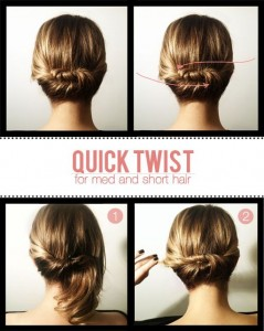 quick twist for short to medium hair