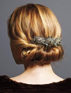 Holiday hair jeweled accessory