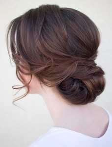 Holiday hair low chignon