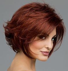 Woman with red hair coloring